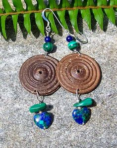 Markdown Free Spirit coconut shell earrings by alanabobanna, $10.47