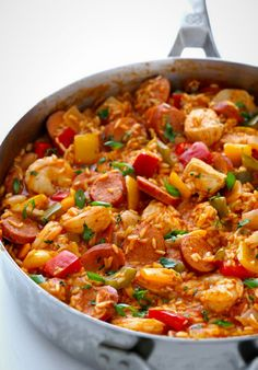 The Best Easy Shrimp Creole Recipe You Will Ever Taste . Easy Paella With Chicken Shrimp And Sausage You Can Use . The Best Shrimp Quesadillas Gimme Delicious. Home and Family Slow Cooker Recipes, Crockpot Recipes, Cooking Recipes, Healthy Recipes, Weeknight Recipes, Cooking Games, Delicious Recipes, Food Dishes, Main Dishes