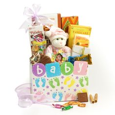 Holiday delight gluten free gift tower mishloachmanot baby girl gift basket negle Image collections