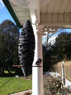 Beautiful bird feeder make from recycled slate roof tiles by Sean Donnelly www.sdstone.ca