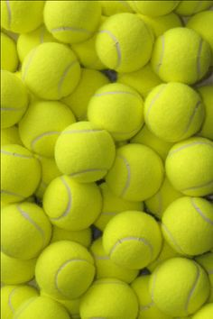 I love this tennis ball iPhone lock screen/home screen background!!