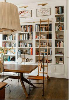 Home Interior Design — At home library – Bookshelf Decor Home Library Design, Home Design, Home Interior Design, Design Ideas, Home Library Decor, Library Room, Dream Library, Cozy Library, Local Library