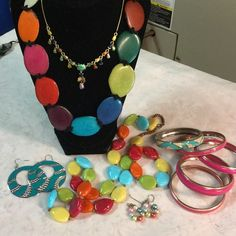 """Selling this """"Great colorful lot of jewelry"""" in my Poshmark closet! My username is: kennjenn2010. #shopmycloset #poshmark #fashion #shopping #style #forsale #Jewelry"""