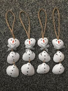 Sea shell snowmen