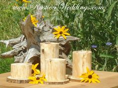 rustic 4 weddings cedar wedding candle holders wood candle holders made out of cedar for wedding table decorations and