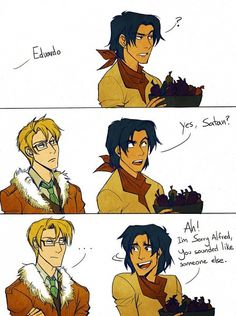 America and Mexico - Hetalia Des-Chan ~ oh mexico how i love you