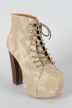promise magi lace up platform bootie