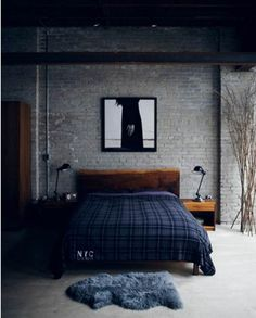 Great colors for guys room. Very industrial! wall amazing