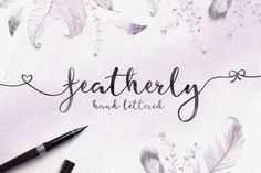 Featherly Hand Lette