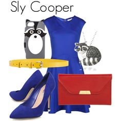 Sly Cooper by danielleweaver267 on Polyvore featuring Ted Baker, Miss KG, Mark Cross, DB Designs, Kate Spade, Jil Sander, videogames, raccoon and slycooper