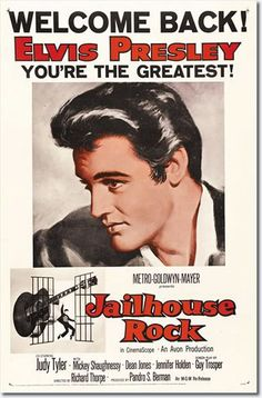 Jailhouse Rock : MGM 1957 : Elvis' Movies : : 'For Elvis Fans Only' Official Elvis Presley Fan Club