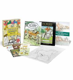 Horses Activity Fun Kit (Dover Fun Kits)--for introverted kids at Tessa's party. 12 Tattoos, Horse Tattoos, The Magicians Nephew, Horse Books, Equestrian Gifts, Horse Gifts, Fun Activities For Kids, Arts And Crafts Supplies, Party Supplies