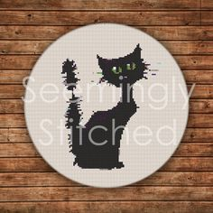 Cross Stitch Pattern - Halloween Cat