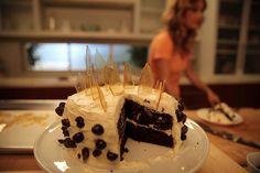 Espresso cake with Tuscan liqueur buttercream and caramel glass