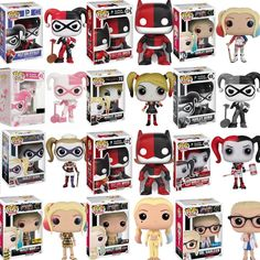 All the different Funko Pops of Harley Kiona