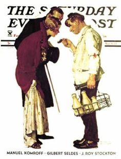 """Saturday Evening Post - 1935-03-09: """"Partygoers"""" (Norman Rockwell)"""