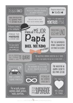 Tarjetas Dia del Padre para imprimir | Aprender manualidades es facilisimo.com