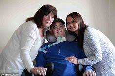 Driver had HEAD ripped from his spine in car crash and was given no chance in hospital - but now he is on his way home and determined to live his life again Tony Cowan, of Durham, suffered horrendous injury in crash in September Ex-bricklayer woke up just before life-support machine was to be turned off He is almost completely paralysed but amazingly retained full brain activity Courageous 29-year-old hopes to leave hospital in the next few months