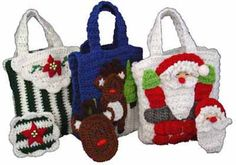 Christmas Gift Bags With Money Holders Set 2 Crochet Patterm-