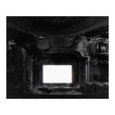 Available for sale from Fraenkel Gallery, Hiroshi Sugimoto, Paramount Theater, Newark Gelatin-silver print, 60 × 8 in Hiroshi Sugimoto, Paramount Theater, Gelatin Silver Print, Movie Theater, Theatre, Artsy, Gallery, Artwork, Photography