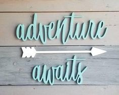Wire letters adventure awaits | Etsy