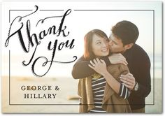 Folded Thank You Cards Limitless Love - Front : Black
