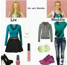 They are twins but have different personalities, liv is a girly girl and Maddie is a Tom boy Cute Girl Outfits, Outfits For Teens, Casual Outfits, Disney Bound Outfits, Disney Inspired Outfits, Liv Et Maddie, Liv Rooney, Dove Cameron Style, Halloween Disfraces