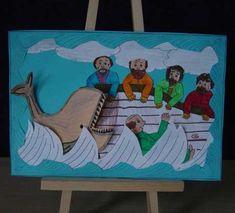 Jona 1: Jona moet naar Nineve gaat niet. Hij wordt overboord gegooid en opgeslokt door een walvis.