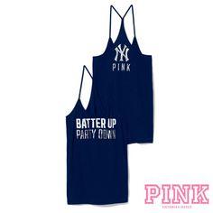 New York Yankees Victoria's Secret PINK® Skinny Racerback Tank - MLB.com Shop