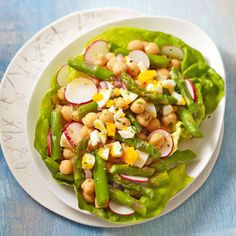 Chickpea and Asparagus Salad #recipe