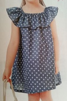 Airy dress for the girl. Cotton Frocks For Kids, Frocks For Girls, Little Girl Outfits, Little Dresses, Little Girl Dresses, Kids Outfits, Girls Dresses, Dresses Short, Toddler Outfits