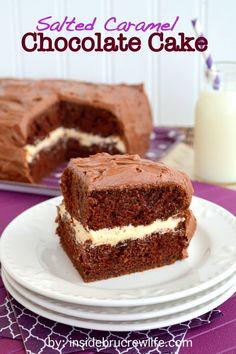 Salted #Caramel #Chocolate #Cake