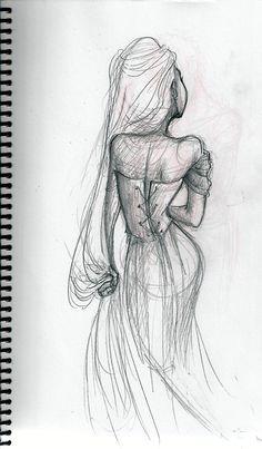 sketch of Rapunzel Cartoon Sketches, Art Drawings Sketches, Character Design Disney, Character Art, Character Illustration, Illustration Art, Rapunzel Drawing, Princess Drawings, Artist Journal