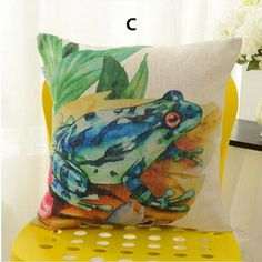 Painting art animal deer throw pillow for home decoration flamingo couch cushions