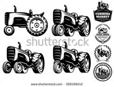 Tractor Outline Stock Photos, Images, & Pictures