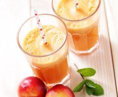 Nectarine Smoothie – Marmiton Cooking Recipe: A Recipe Source by sandrinebenhaim Smoothie King, Smoothie Detox, Smoothie Bowl, Fruit Smoothie Recipes, Juice Smoothie, Healthy Smoothies, Healthy Drinks, Detox Drinks, Smoothie Nectarine