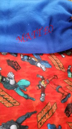 Embroidered Blankets, Personalised Blankets, Power Rangers, Birthday Gifts, Birthday Presents, Powe Rangers, Birthday Favors