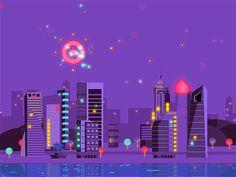 City Night by Jesse Sliter (Seattle Washington)