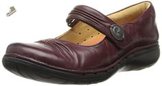 Clarks Women's UN Linda Falt,Burgundy Leather,6.5 M US - Clarks flats for women (*Amazon Partner-Link)