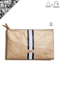 [G4V11902 - BE / 3 LINE TYVEK CLUTCH BAG [L size]]