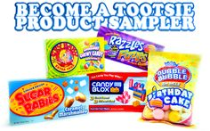 Want to be a Tootsie Roll Pops Product Sampler? 200 lucky applicants will receive a box of newer and lesser known candies to sample and review!