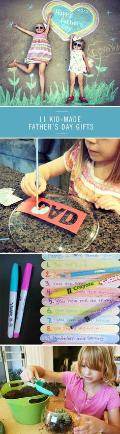 Get crafty this Fathers Day with homemade gifts the kids can make from trivets for the chef to golf tee holders for the golfer. Click through for all the fun ideas for pops with these 11 DIY Fathers Day gifts. Diy Father's Day Gifts, Father's Day Diy, Fathers Day Crafts, Gifts For Father, Mother And Father, Happy Father, Father Sday, Diy For Kids, Crafts For Kids
