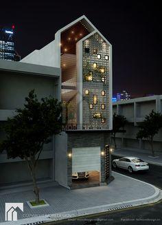 Nhà phố hiện đại, cá tính. Thiết kế bởi MDA Design & Build co.ltd www.mdaarchitects.com.vn