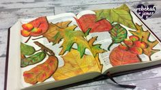 How to Paint & Color Autumn Leaves + free download! - Bible Art Journaling Challenge Week 43