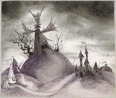 'Frankenweenie' concept art by Tim Burton (1982).