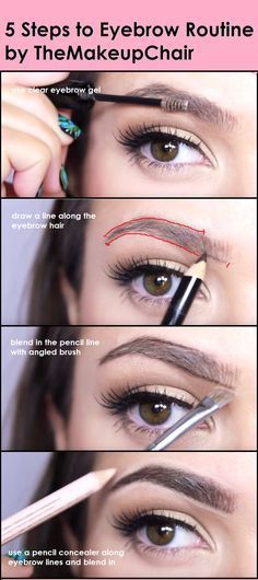 5 Steps To Eyebrow Routine Themakeupchair Maquiagem Eyebrow Makeup 101, Skin Makeup, Makeup Eyebrows, Makeup Ideas, Eye Brows, Makeup Tutorials, Easy Makeup, Plucking Eyebrows, Threading Eyebrows