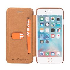Sale 21% (8.99$) - Premium PU Leather Flip Cover Wallet Card Holder Case For iPhone 7