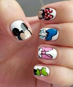 colorful cute design ideas mickey minnie mouse nail art nails nice