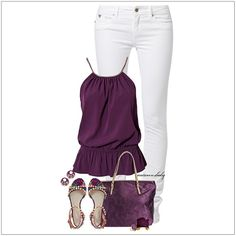 CHATA'S DAILY TIP: Create a gorgeous casual-smart effect with intense gooseberry – perfect for showing off Deep or Rich skin tones (a softer shade of lilac or berry will flatter Soft or Medium skin tones). The peplum shape of the top flatters rounded tummies. COPY CREDIT: Chata Romano Image Consultant, Marlise du Plessis http://chataromano.com/consultant/marlise-duplessis/ IMAGE CREDIT: Pinterest