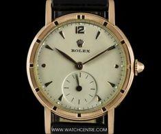 Rolex 10k Rose Gold Cream Dial Vintage Gents Wristwatch 8170 #Rolex #Rose #Gold #Cream #Vintage #Gents #Wristwatch #Luxury #Timepiece #WatchCentre #NewBondStreet #Mayfair #London